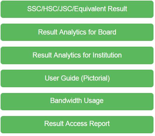 Web Based Result options