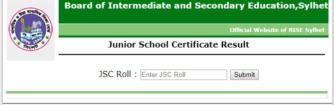 result.sylhetboard.gov.bd JSC Result 2019