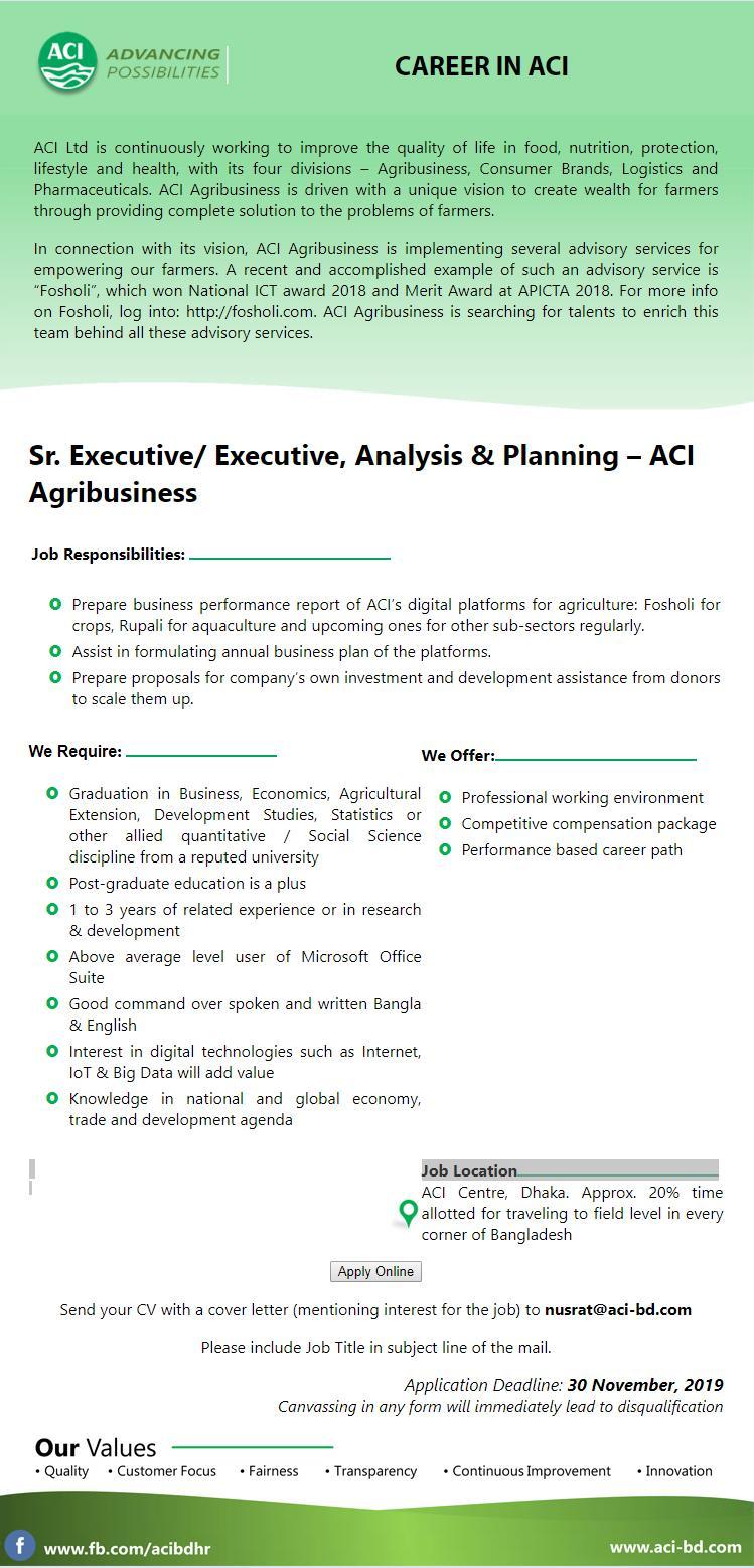 ACI Ltd. Job Circular