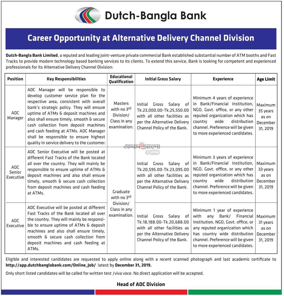 DBBL Job Circular