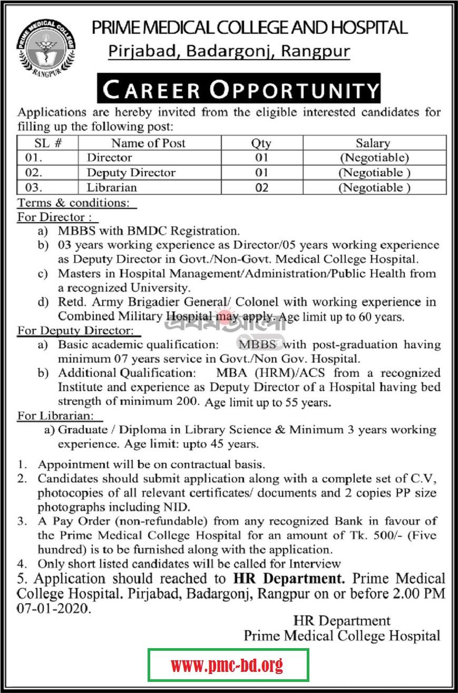 PMCH Job Circular