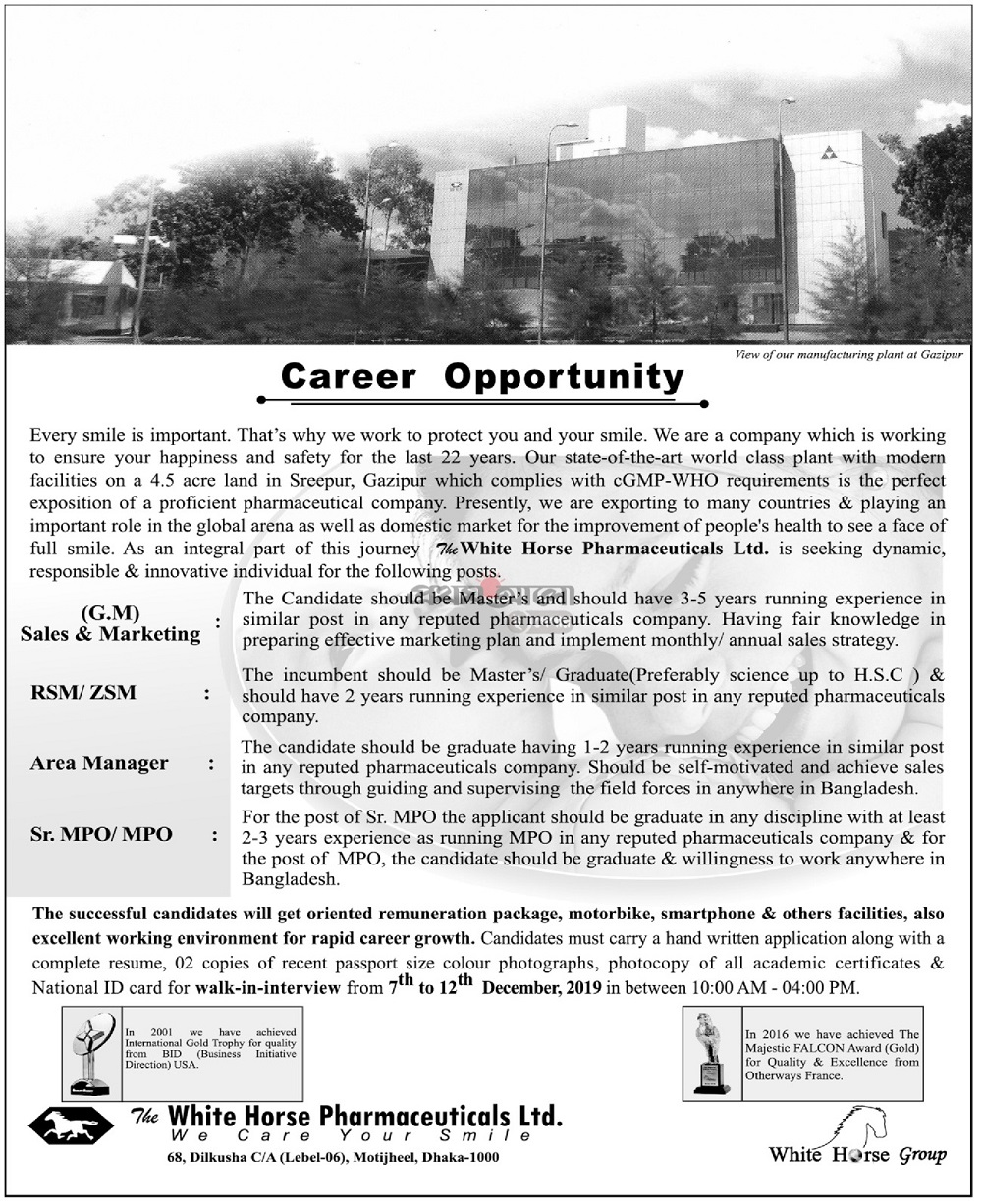 White Horse Pharma Jobs in BD