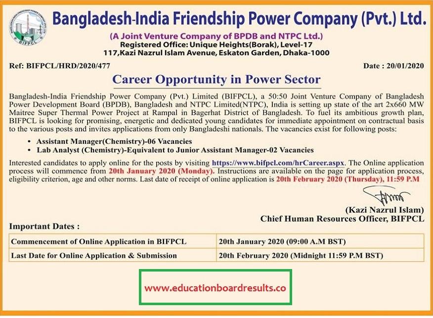 BIFPCL Job Circular