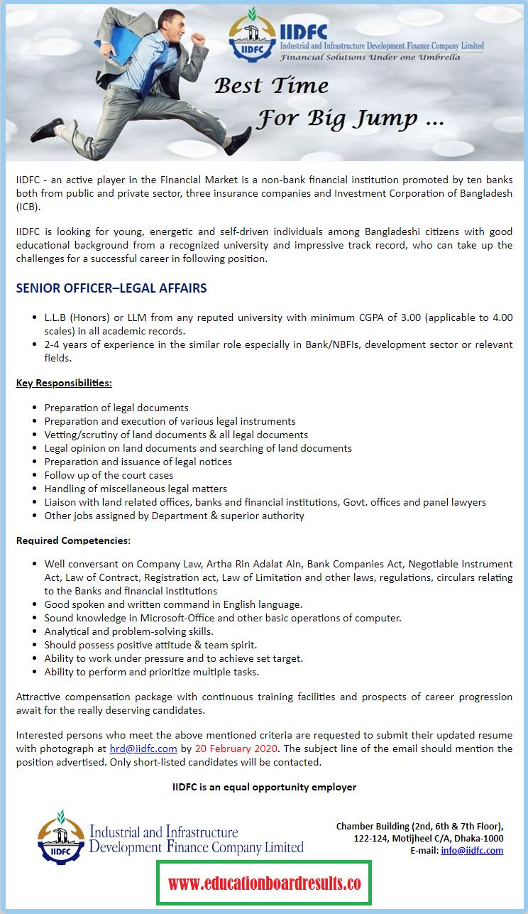 IIDFC Job Circular