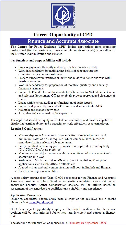 CPD Job Circular 2020